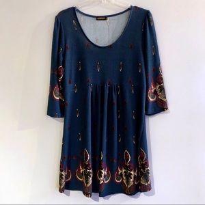 Reborn Women's Dress in Boho Print 2XL